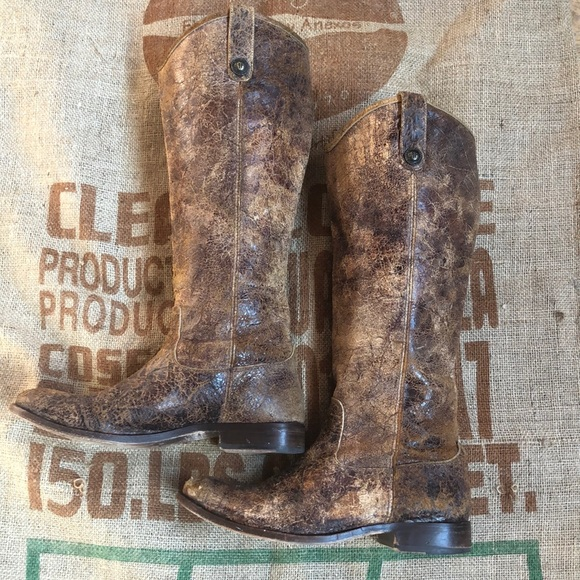 Frye Shoes - Frye Melissa distressed tall boots size 9
